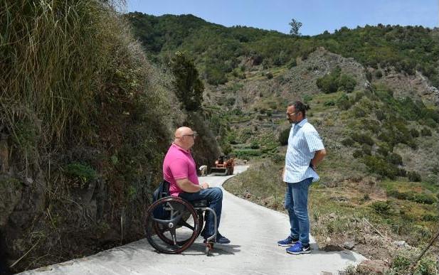 El Ayuntamiento de Santa Cruz de Tenerife concluye las obras de mejora de la pista de Pancosa, en Roque Negro