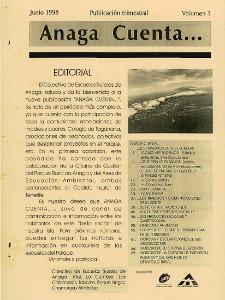 Anaga Cuenta Nº 1 - 1ª Época - Junio 1998