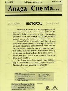 Anaga Cuenta Nº 10 - 1ª Época - Junio 2001