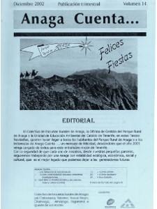 Anaga Cuenta Nº 14 - 1ª Época - Diciembre 2002