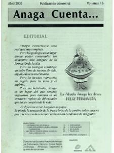 Anaga Cuenta Nº 15 - 1ª Época - Abril 2003