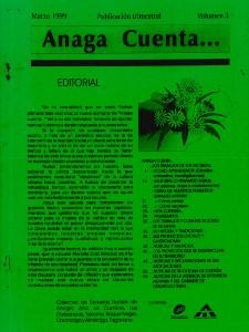 Anaga Cuenta Nº 3 - 1ª Época - Marzo 1999