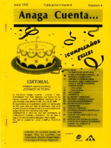 Anaga Cuenta Nº 4 - 1ª Época - Junio 1999