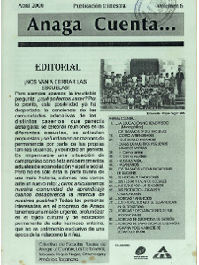 Anaga Cuenta Nº 6 - 1ª Época - Abril 2000