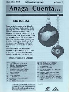 Anaga Cuenta Nº 8 - 1ª Época - Diciembre 2000