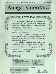 Anaga Cuenta Nº 9 - 1ª Época - Marzo 2001