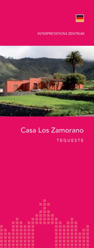 Tríptico Informativo Casa Los Zamorano Alemán