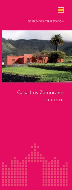Tríptico Informativo Casa Los Zamorano Español