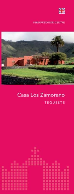 Tríptico Informativo Casa Los Zamorano Inglés