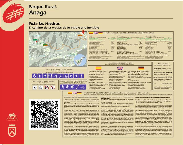 Sendero de Las Hiedras desde Las Carboneras - Panel de Inicio