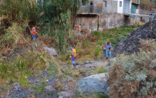 El Ayuntamiento de Santa Cruz acondiciona el barranco de María Jiménez