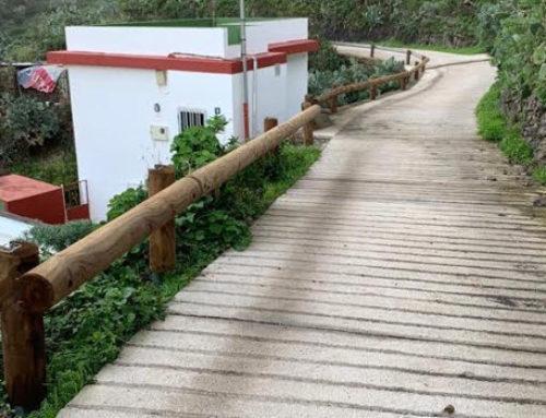 El Cabildo mejora la seguridad de la pista agrícola de Lomo de Las Bodegas