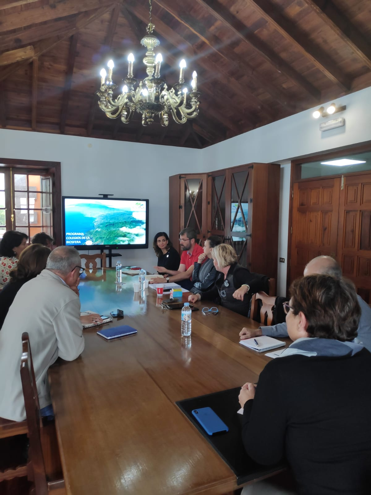 Colegios de la Biosfera acoge la segunda reunión entre Cabildo y municipios