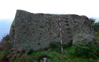 El Cabildo constata que los grabados rupestres de la piedra de Taganana están intactos