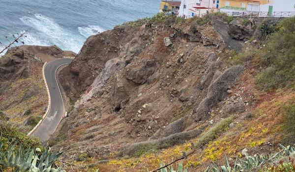 El Cabildo inicia mañana las obras de emergencia en el talud de Almáciga