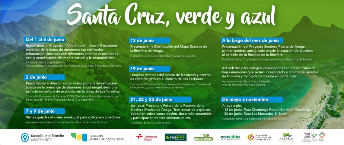 Santa Cruz verde y azul