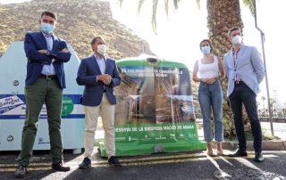 Santa Cruz presenta la nueva campaña de reciclaje de vidrio en Anaga