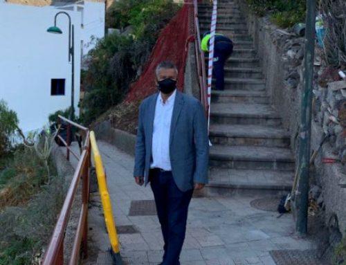 Santa Cruz inicia los trabajos de reforma del Paseo Inciensal en Igueste de San Andrés